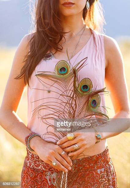Gypsy vintage fashion jewelry and accessories in nature