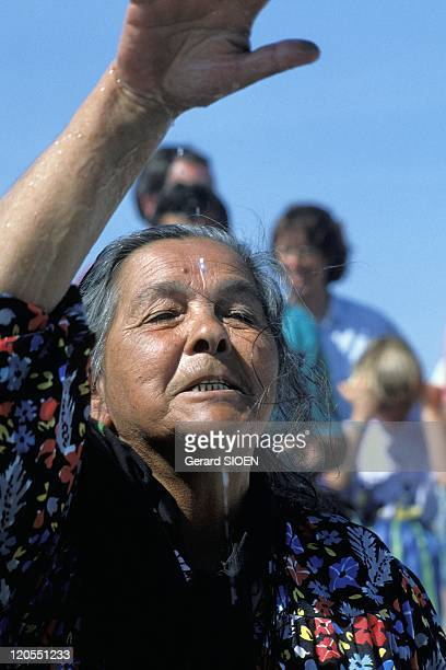 Gypsy Woman During the Gypsies Pilgrimage in Saintes Maries De La Mer Camargue France Bouches du Rhone regional natural park of Camargue Saintes...