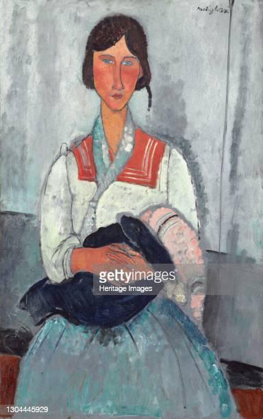 Gypsy Woman with Baby, 1919. Artist Amadeo Modigliani.