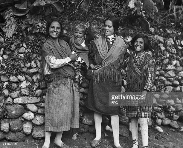 Gypsy women from the south of Spain circa 1930