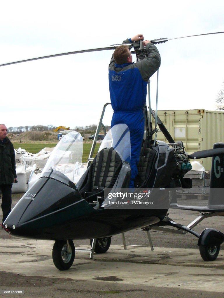 A gyrocopter at Long Marston airfield near Stratford-Upon