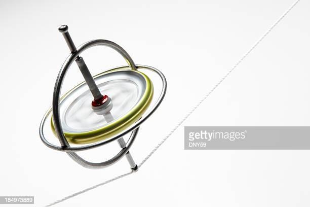 Gyroscope en équilibre sur une corde