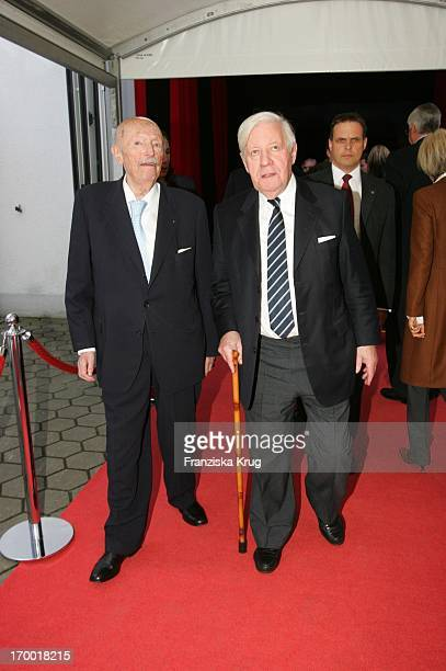 Gyula Trebitsch And Helmut Schmidt At the 60th And 25 year old birthday anniversary service of Dr M Willich At Studio Hamburg in Hamburg On 280405