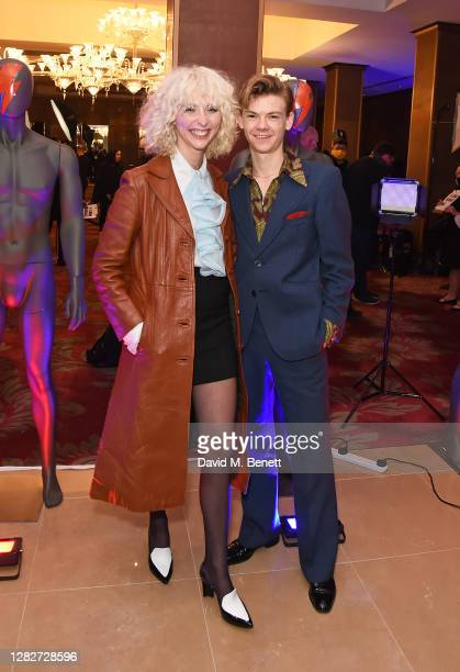 Gzi Wisdom and Thomas BrodieSangster attend the UK Premiere of Stardust the Opening Film of the Raindance Film Festival at The May Fair Hotel on...