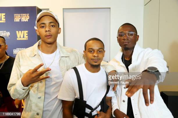 H2Flee, Lazy, and William Draymond Jr. Attend as WEtv celebrates the premieres of Growing Up Hip Hop New York and Untold Stories of Hip Hop on August...