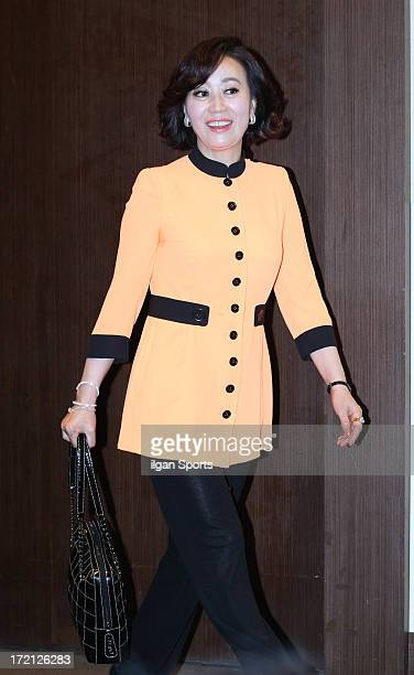 Ha ChunHwa attends Jang YoonJung and Do KyungWan Wedding at 63 building convention center on June 28 2013 in Seoul South Korea