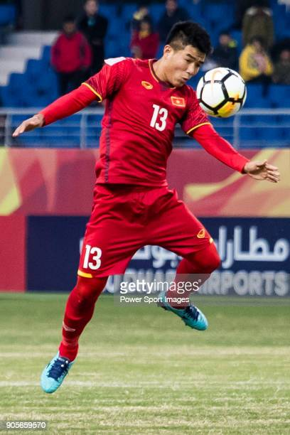Ha Duc Chinh of Vietnam in action during the AFC U23 Championship China 2018 Group D match between Vietnam and Australia at Kunshan Sports Center on...