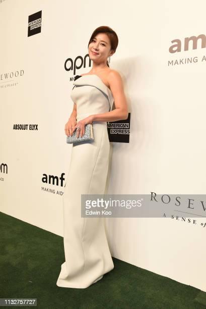 Ha JiWon attends the amfAR Gala Hong Kong 2019 at the Rosewood Hong Kong on March 25 2019 in Hong Kong Hong Kong