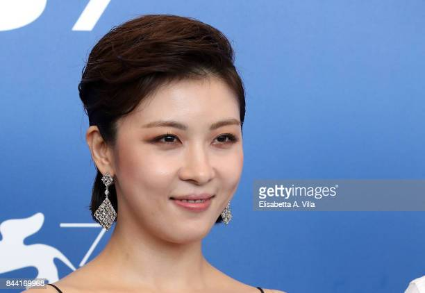 Ha Jiwon attends the 'Zhuibu ' photocall during the 74th Venice Film Festival on September 8 2017 in Venice Italy