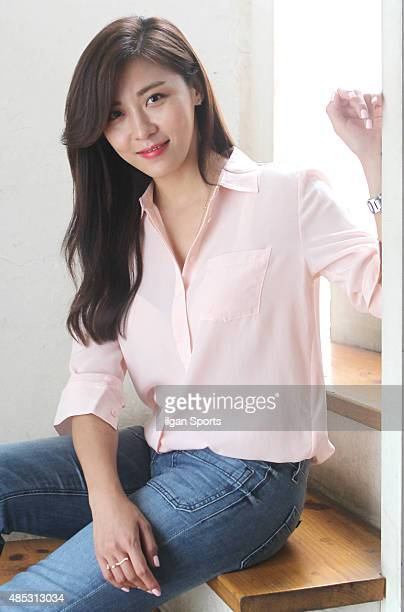 Ha JiWon poses for photographs on August 19 2015 in Seoul South Korea