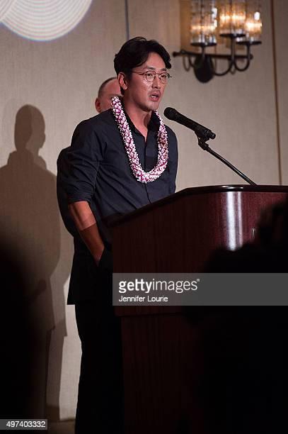Ha Jung Woo attends the 2015 Hawaii International Film Festival Awards Gala on November 15 2015 in Honolulu Hawaii