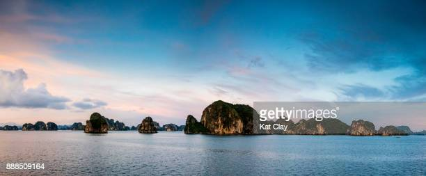Ha Long Bay Sunset Panorama