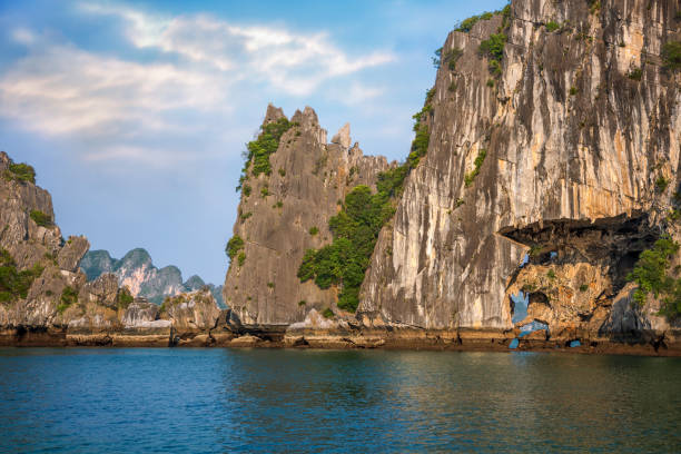 Ha Long Bay, World Heritage Site with Limestone Karsts and Mountains