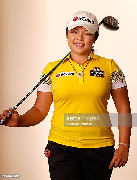 Ha Na Jang of South Korea poses for a portrait ahead of the LPGA Founders Cup at Wildfire Golf Club on March 17 2015 in Phoenix Arizona