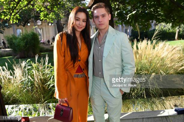 Ha Nee Lee and Dylan Sprouse attend the Salvatore Ferragamo show during Milan Fashion Week Spring/Summer 2020 on September 21 2019 in Milan Italy