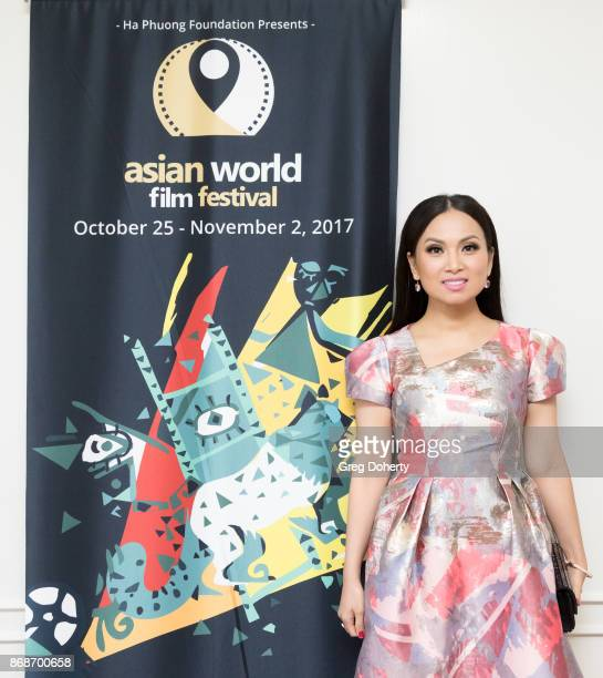 Ha Phuong Cha Tran attends a reception as Angelina Jolie Accepts the Rising Star Award on behalf of 'First They Killed My Father' actress Sreymoch...
