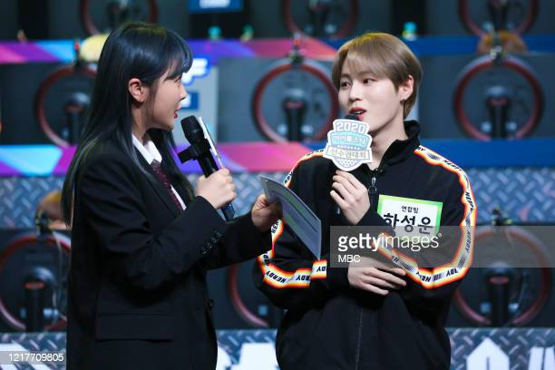 Ha Sung-Woon of Wanna One attends MBC Idol Athletics Championship 2020 at Goyang Stadium on January 25, 2020 in Goyang, South Korea.