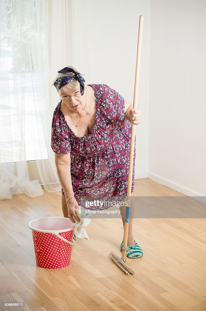 Ha, want me to clean more : Stock Photo