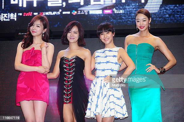 Ha YeonJu Choi SongHyun Jo YeoJeong and Choi YeoJin attend tvN 'Romance Ga Pil Yo Hae' at Club Ellui on June 3 2011 in Seoul South Korea