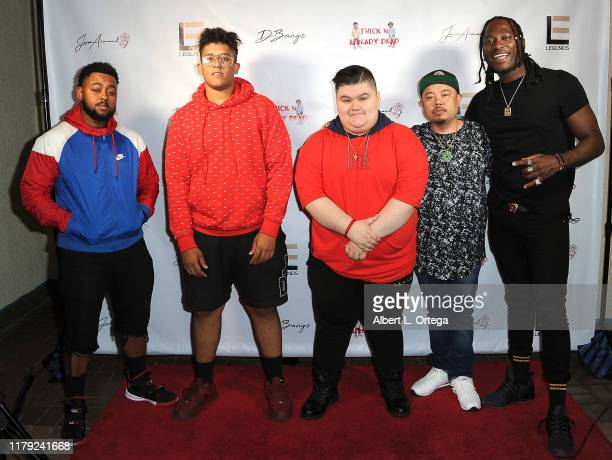 Ha$an DBangz Jovan Armand DJ Rocky Rock and B Lay attend the DBANGZ And Lil Boom Thick N Already Dead Concert held at The PCH Club on October 4 2019...