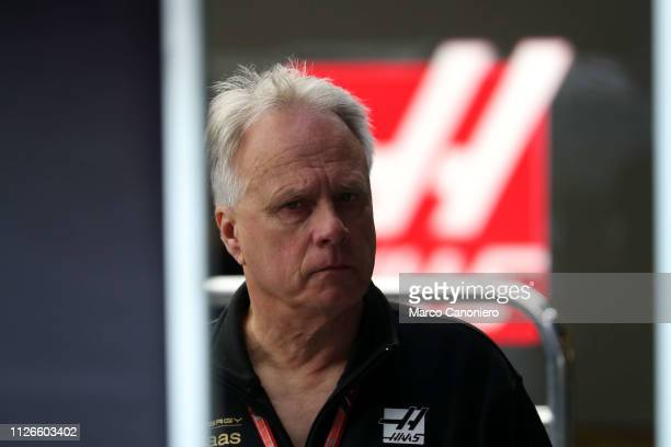 Haas F1 Founder and Chairman Gene Haas during day four of F1 Winter Testing.