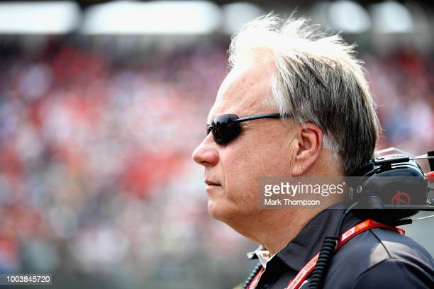 Haas F1 Founder and Chairman Gene Haas looks on, on the grid before the Formula One Grand Prix of Germany at Hockenheimring on July 22, 2018 in...