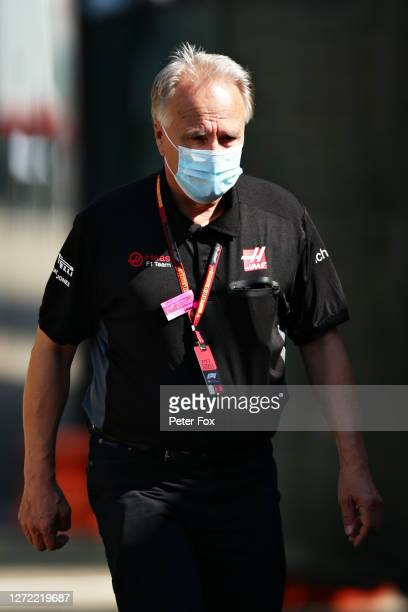 Haas F1 Founder and Chairman Gene Haas walks in the Paddock before the F1 Grand Prix of Tuscany at Mugello Circuit on September 13, 2020 in...
