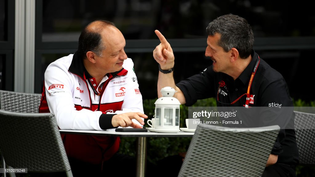 Haas F1 Team Principal Guenther Steiner And Alfa Romeo Racing Team News Photo Getty Images