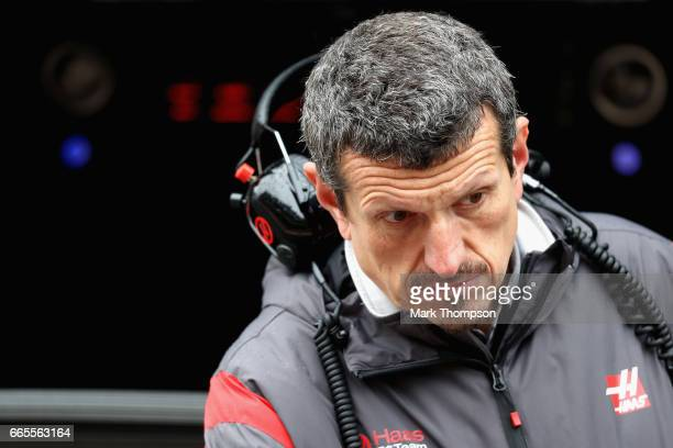 Haas F1 Team Principal Guenther Steiner in the Pitlane during practice for the Formula One Grand Prix of China at Shanghai International Circuit on...
