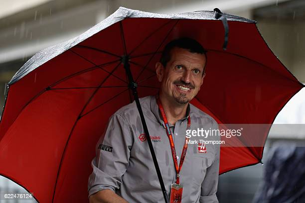 Haas F1 Team Principal Guenther Steiner walks in the Paddock during practice for the Formula One Grand Prix of Brazil at Autodromo Jose Carlos Pace...