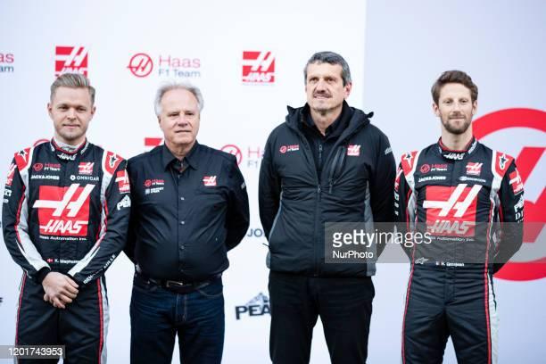Haas F1 TeamHaas F1 Team Ferrari VF-20 presentation with Kevin Magnussen, Romain Grosjean, HAAS Gene , Founder & Chairman of Haas Automation...