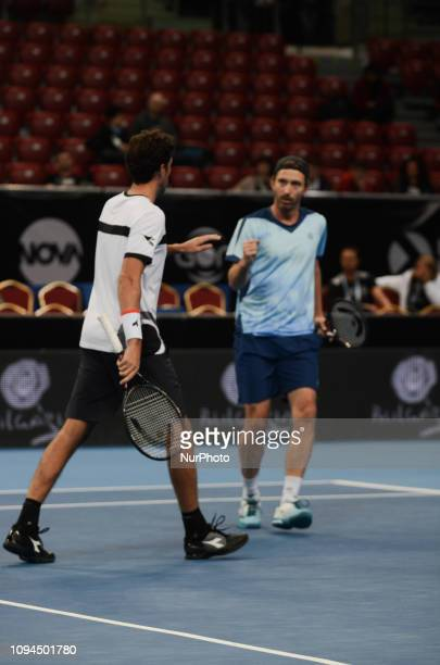 R Haase Left / M Middelkoop Right during their game against [WC] A Andreev / D Kuzmanov Sofia Open 2019 at Arena Armeec Hall in the Bulgarian capital...