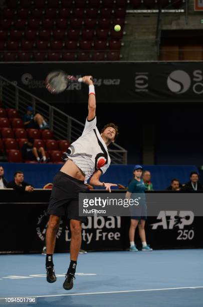 R Haase Right during hi game against [WC] A Andreev / D Kuzmanov Sofia Open 2019 at Arena Armeec Hall in the Bulgarian capital of Sofia Bulgaria on...