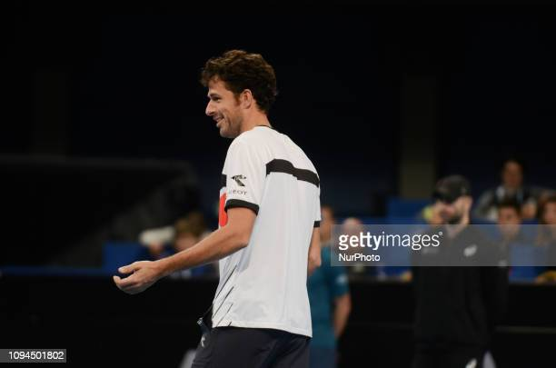R Haase Right during his game against [WC] A Andreev / D Kuzmanov Sofia Open 2019 at Arena Armeec Hall in the Bulgarian capital of Sofia Bulgaria on...