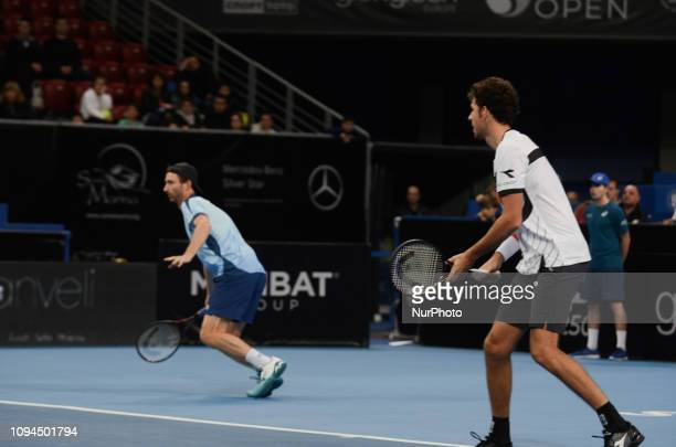 R Haase Right / M Middelkoop Left during their game against [WC] A Andreev / D Kuzmanov Sofia Open 2019 at Arena Armeec Hall in the Bulgarian capital...