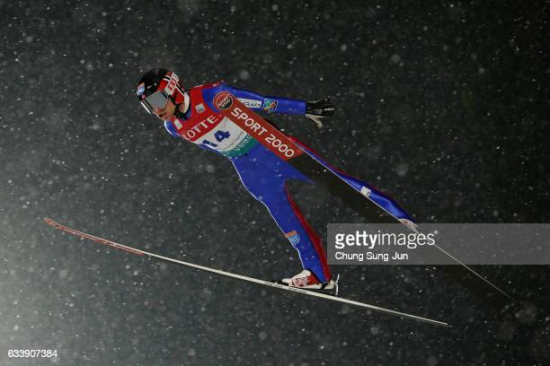 Haavard Klemetsen of Norway competes in the Individual Gundersen LH 10km during the FIS Nordic Combined World Cup presented by Viessmann Test Event...