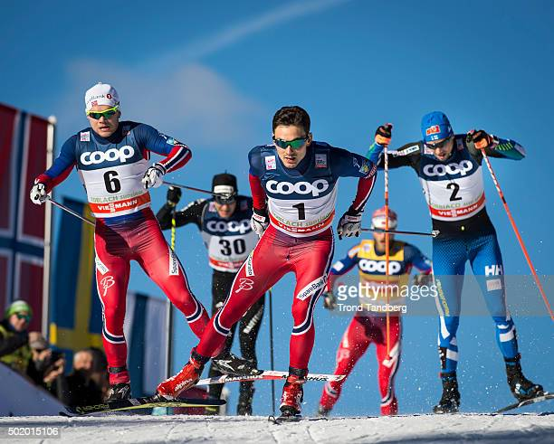 Haavard Solaas Taugboel and Finn Haagen Krogh of Norway during FIS Cross Country World Cup 13 Sprint Free at Toblach on December 19 2015 in Toblach...