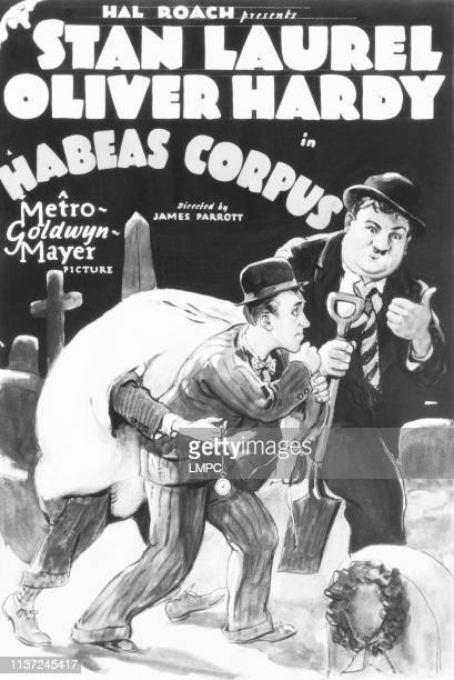 Habeas Corpus, poster, US poster, from left: Stan Laurel, Oliver Hardy, 1928.
