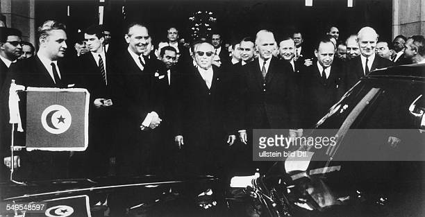 Habib Bourguiba, Politician, President Tunesian Republik - with Alfried Krupp in Bonn at his visit in Germany