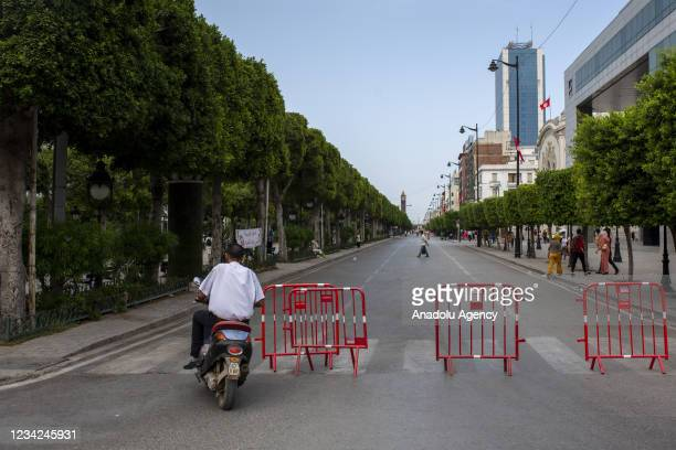 Habib Burgiba street remains silent after Tunisian President Kais Saied announced late Sunday that he has fully assumed executive authority in...