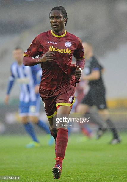 Habib Habibou of SV Zulte Waregem in action during the UEFA Europa League group stage match between SV Zulte Waregem and Wigan Athletic FC held on...