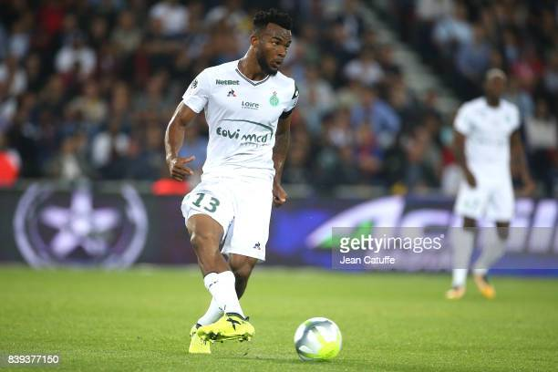 Habib Maiga of SaintEtienne during the French Ligue 1 match between Paris Saint Germain and AS SaintEtienne at Parc des Princes on August 25 2017 in...