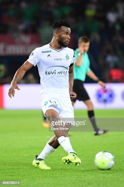 Habib Maiga of St Etienne during the Ligue 1 match between Paris Saint Germain and AS Saint Etienne at Parc des Princes on August 25 2017 in Paris