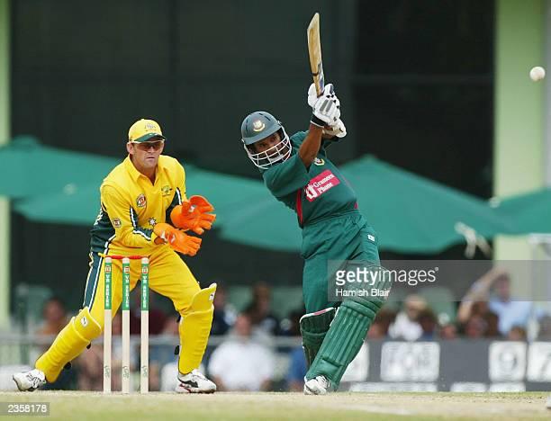 Habibul Bashar of Bangladesh in action during the 2nd One Day International between Australia and Bangladesh played at Bundaberg Rum Stadium on...