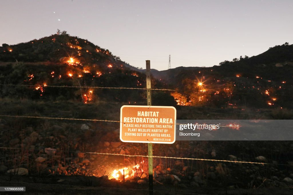 Blackouts And Fires Batter California Again As High Winds Rage : News Photo