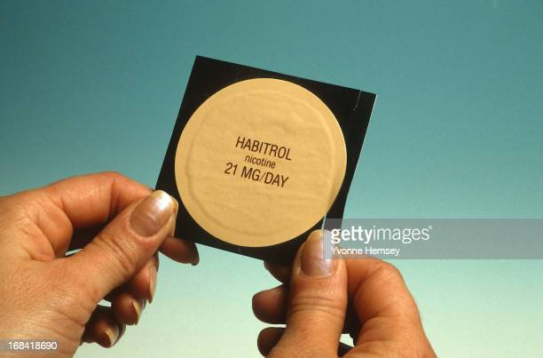 Habitrol nicotine patch is photographed December 20 1991 in New York City The FDA has approved the patches for consumers