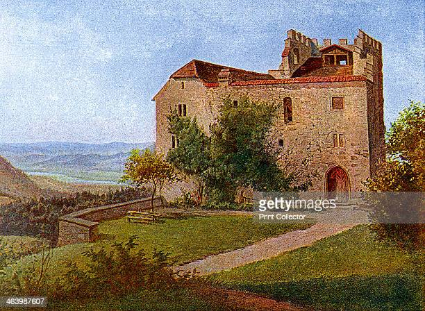 Habsburg Castle, near Aargau, Switzerland, 1902-1903. From Penrose's Pictorial Annual 1902-1903, An Illustrated Review of the Graphic Arts, volume 8,...