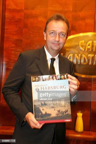 Habsburg-Lothringen, Karl - Politician, Austria - with book 'Das Haus Habsburg'