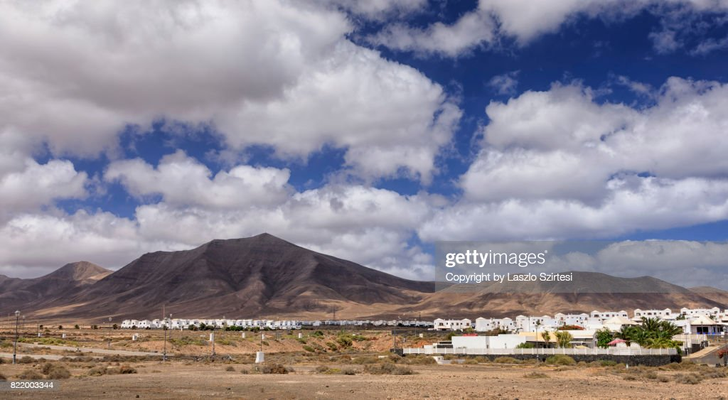 Hacha Grande Volcano in Lanzarote : Stock Photo