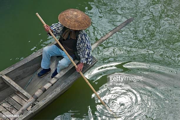 Hachiman Moat Canal at Lake Biwa, Japan